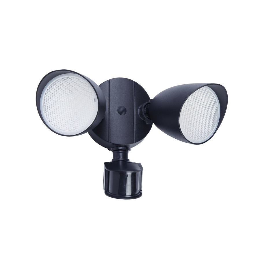 Shop security flood lights at lowes utilitech 110 degree 2 head black integrated led motion activated flood light with aloadofball Image collections