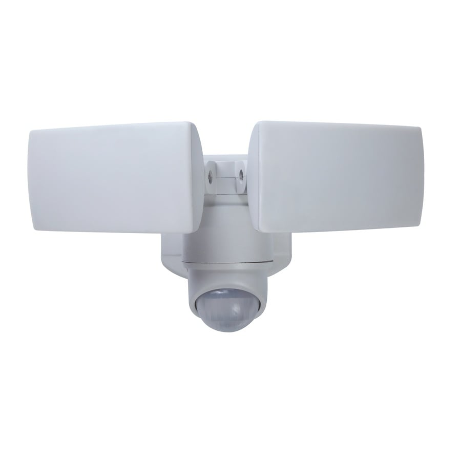 Shop utilitech 180 degree 2 head white integrated led motion utilitech 180 degree 2 head white integrated led motion activated flood light with mozeypictures Choice Image