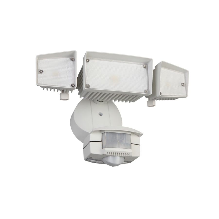 Shop utilitech pro 240 degree 3 head dual detection zone white led utilitech pro 240 degree 3 head dual detection zone white led motion activated mozeypictures Choice Image