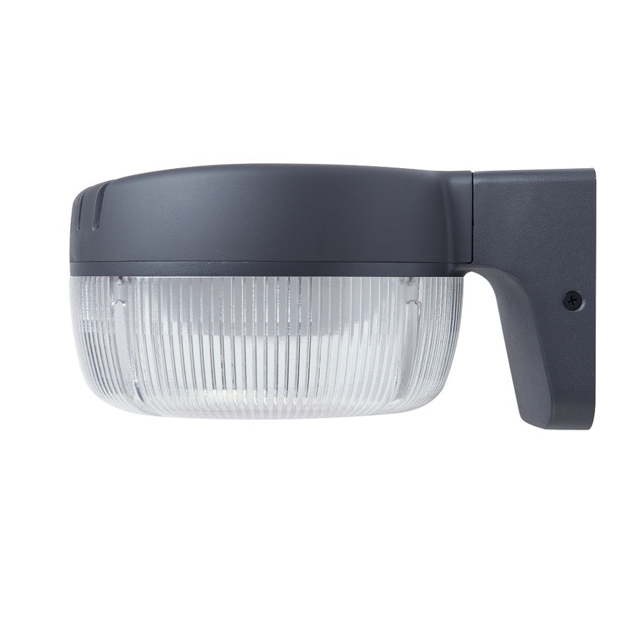 Shop security flood lights at lowes utilitech pro 1 head gray led dusk to dawn flood light aloadofball Image collections