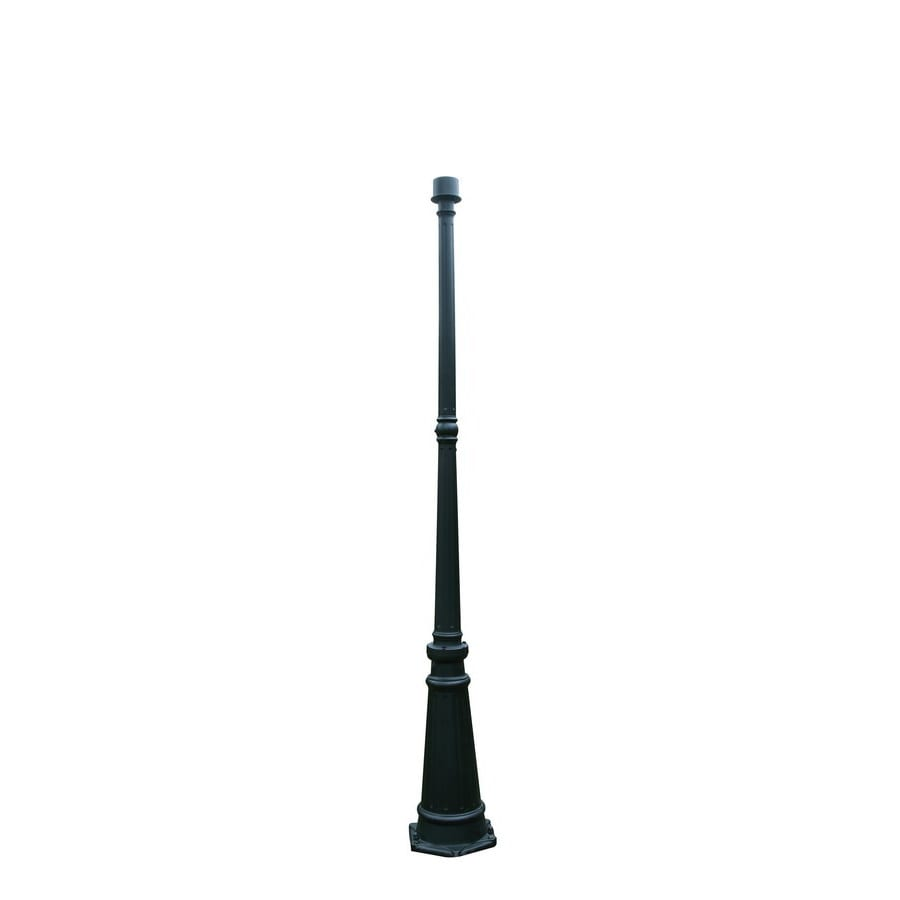 Outdoor Lamp Post B Q: Portfolio 71.54-in Black Traditional Pole At Lowes.com