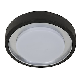 Style Selections 11.81-in Oil Rubbed Bronze Modern/Contemporary Integrated LED Flush Mount Light
