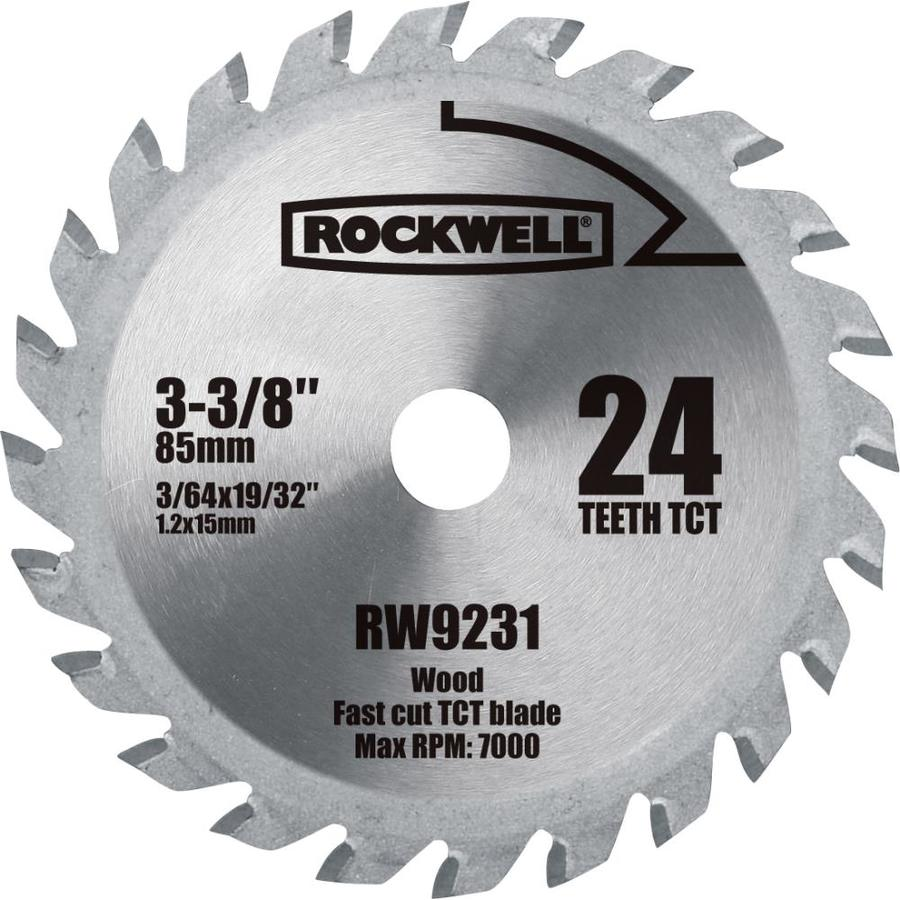 ROCKWELL 3-3/8-in 24-Tooth Continuous Carbide Circular Saw Blade