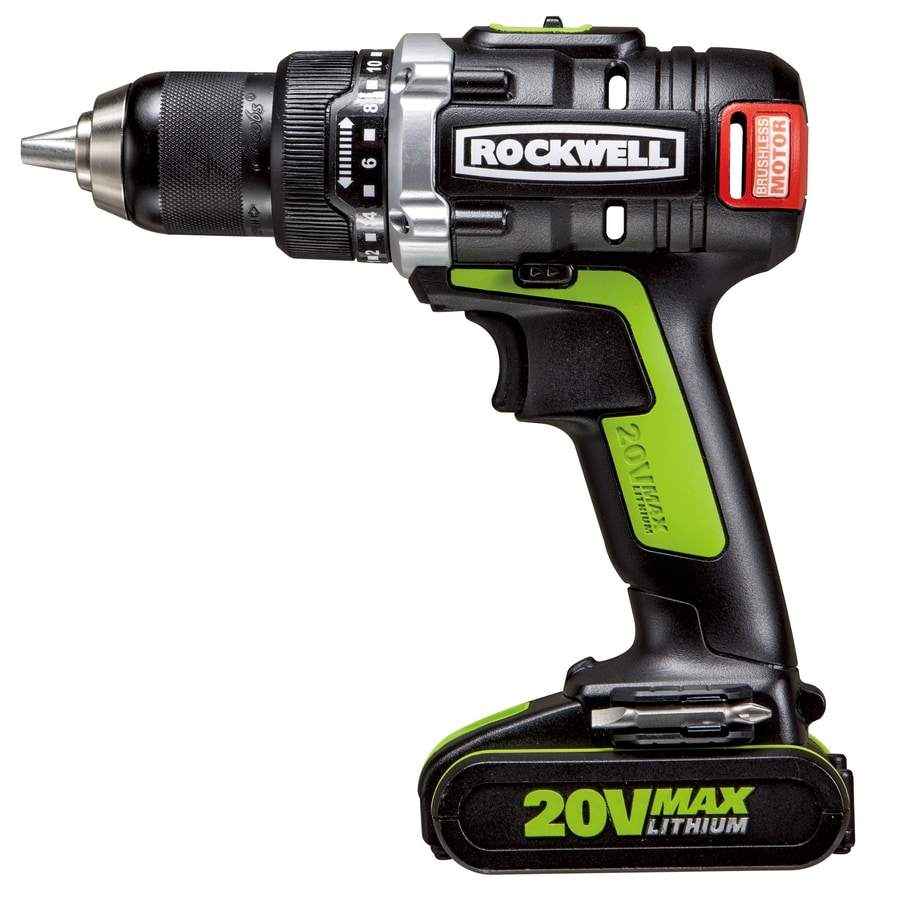 ROCKWELL 20-Volt Max 1/2-in Cordless Brushless Drill
