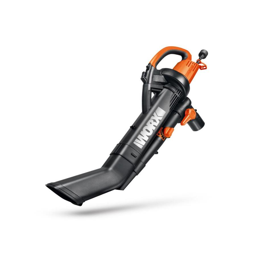 WORX Trivac 2.0 12-Amp 350-CFM 210-MPH Medium-Duty Corded Electric Leaf Blower with Vacuum Kit