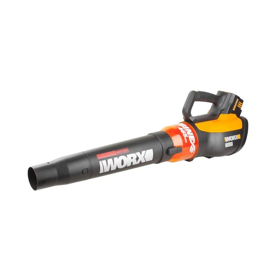 WORX 56-Volt Lithium Ion (Li-ion) 465-CFM 125-MPH Heavy-Duty Brushless Cordless Electric Leaf Blower