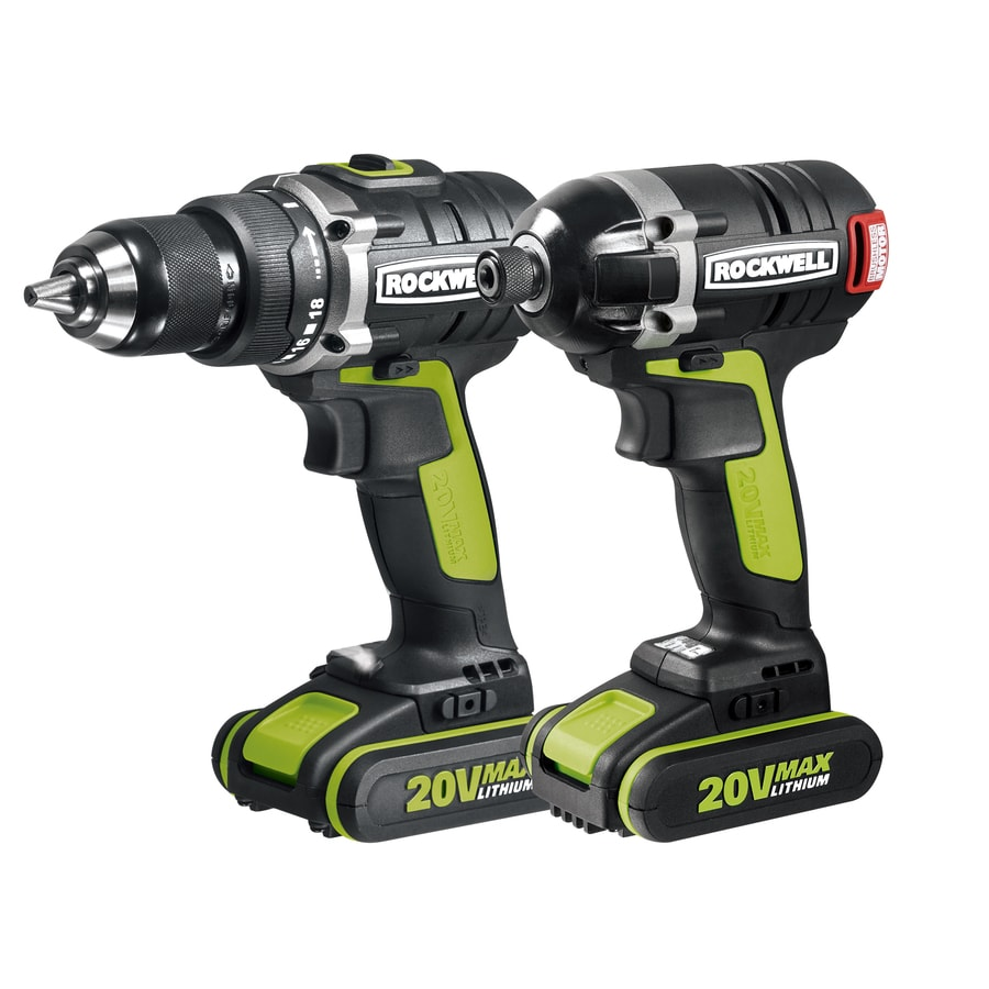 ROCKWELL 2-Tool 20-Volt Max Lithium Ion (Li-ion) Cordless Combo Kit with Soft Case