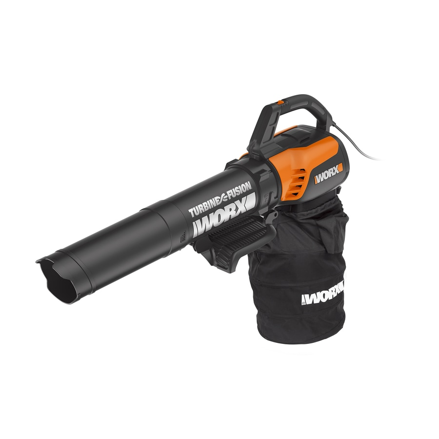 WORX Trivac 12-AMP 500-CFM 55-MPH Medium-Duty Corded Electric Leaf Blower with Vacuum Kit