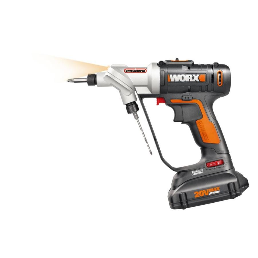 WORX Switchdriver 20-Volt Max Lithium Ion (Li-ion) 1/4-in Cordless Drill Battery Included (No Case)
