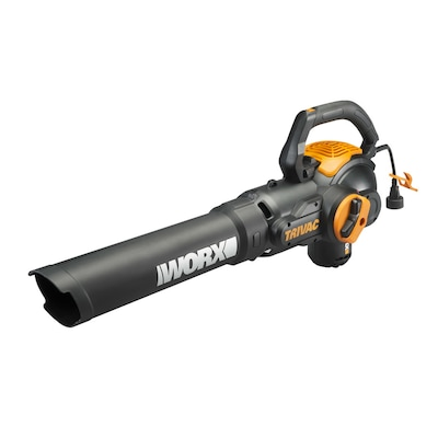 WORX Trivac 600-CFM 70-MPHVacuum Kit Included Corded Electric Leaf Blower