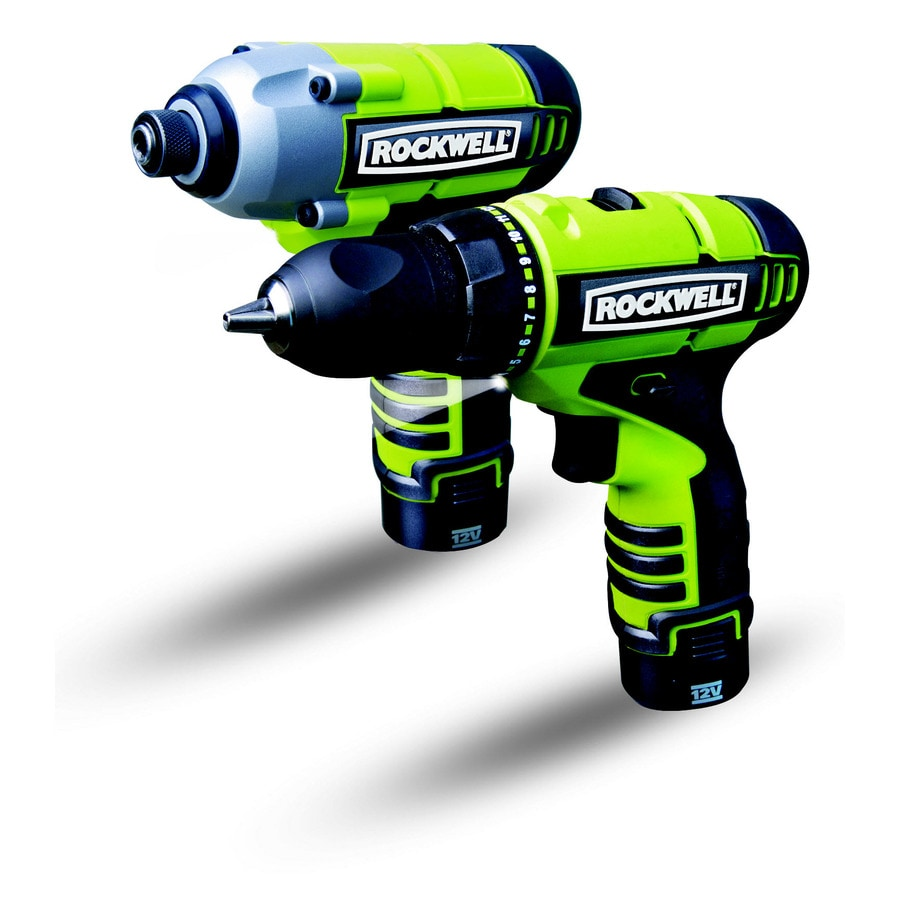 ROCKWELL 12-Volt Lithium Ion Drill/Driver and Impact Driver Combo Kit
