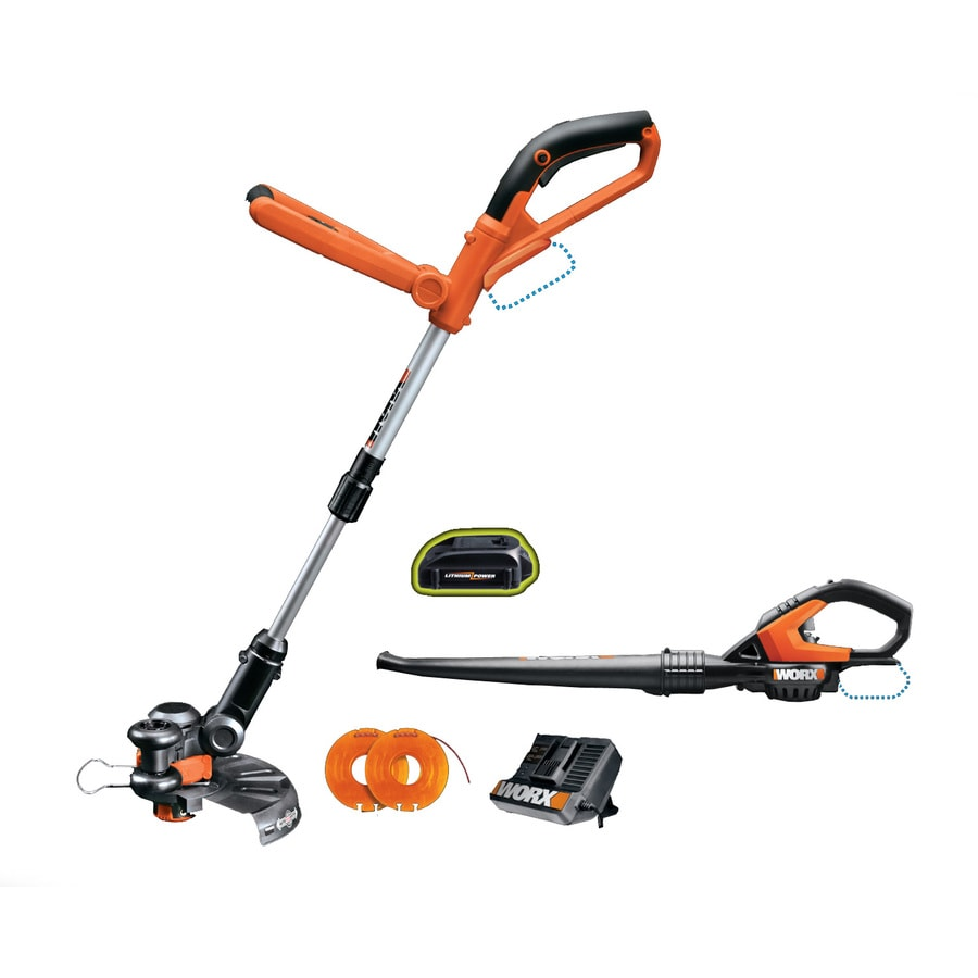 WORX 24-Volt 10-in Straight Cordless String Trimmer and Edger