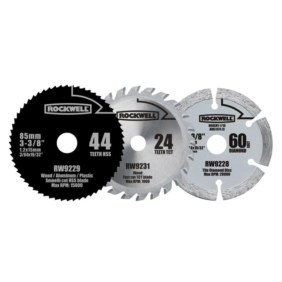 Shop rockwell versacut 3 piece circular saw blade set at lowes rockwell versacut 3 piece circular saw blade set greentooth Images