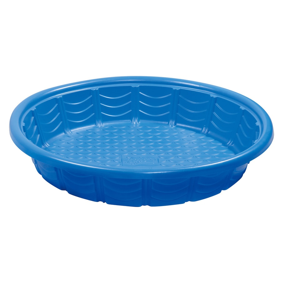 Summer Waves Wading Pool 45-in L x 45-in W Blue Plastic Round Kiddie Pool