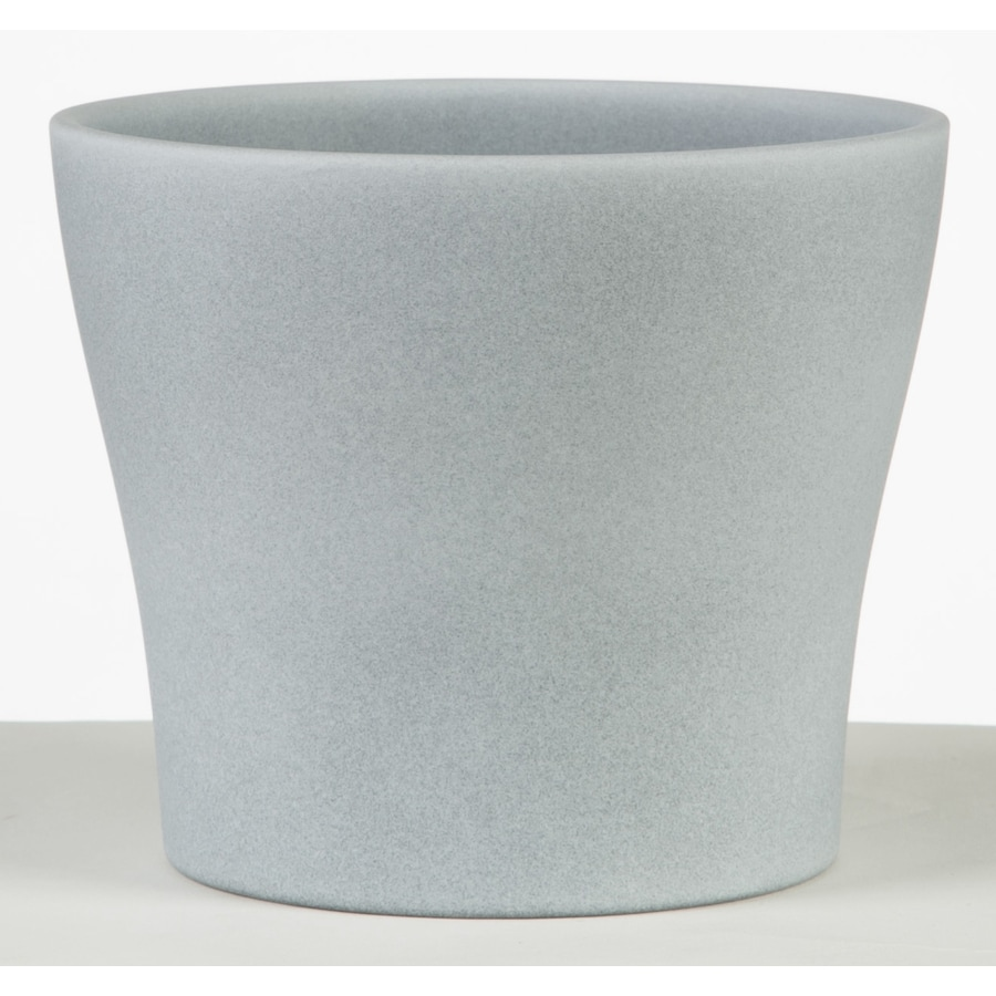 5.9-in x 5.4-in Grey Stone Ceramic English Planter