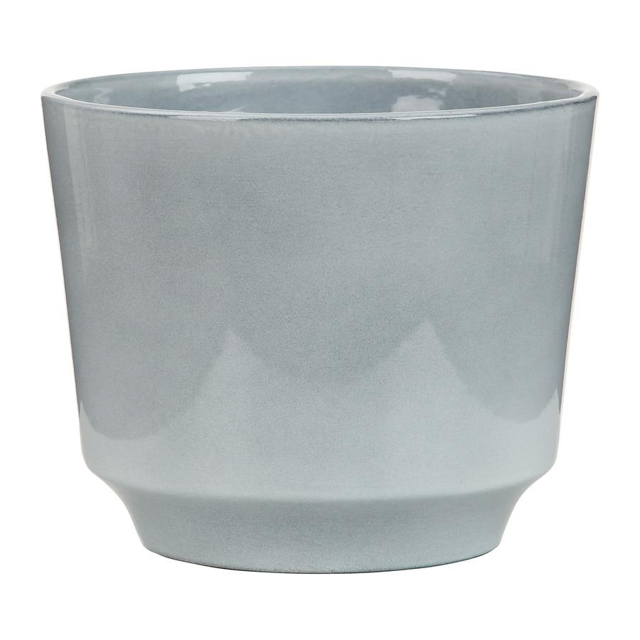 6.25-in x 5-in Washed Denim Ceramic Planter