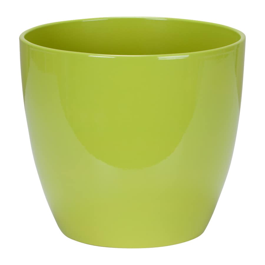 11-in x 10-in Tropical Green Ceramic Planter