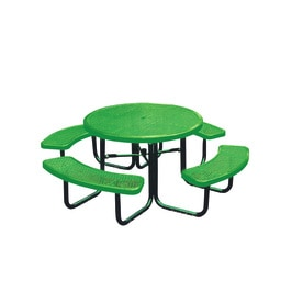 Ultra Play 46 In Green Steel Round Picnic Table