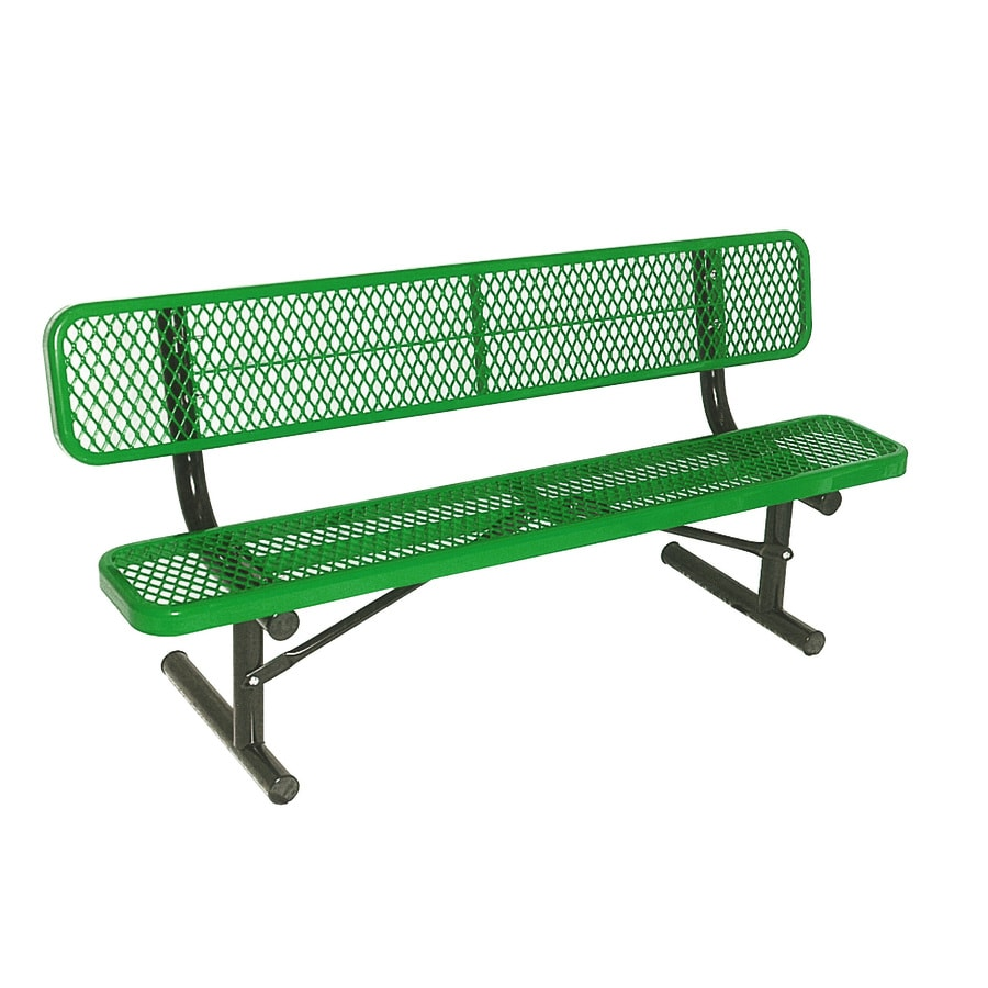 Shop ultra play 72 in l steel park bench at Lowes garden bench