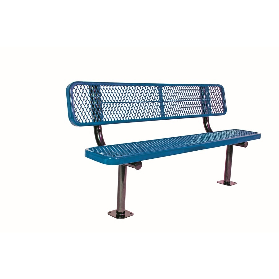 Ultra Play 72-in L Steel Park Bench
