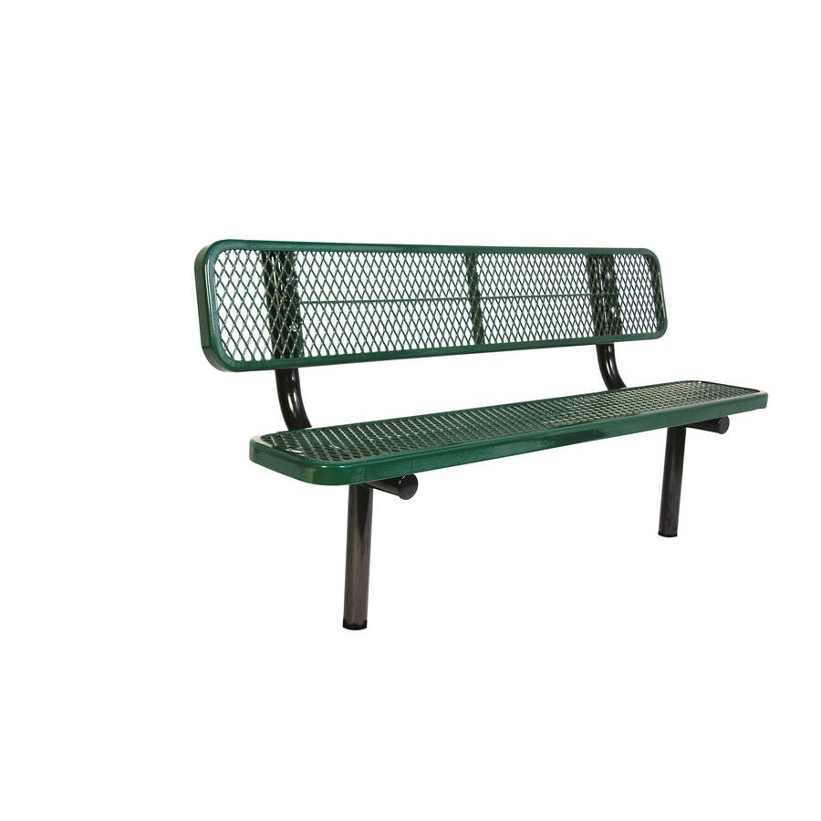 Shop Ultra Play 72 In L Steel Park Bench At