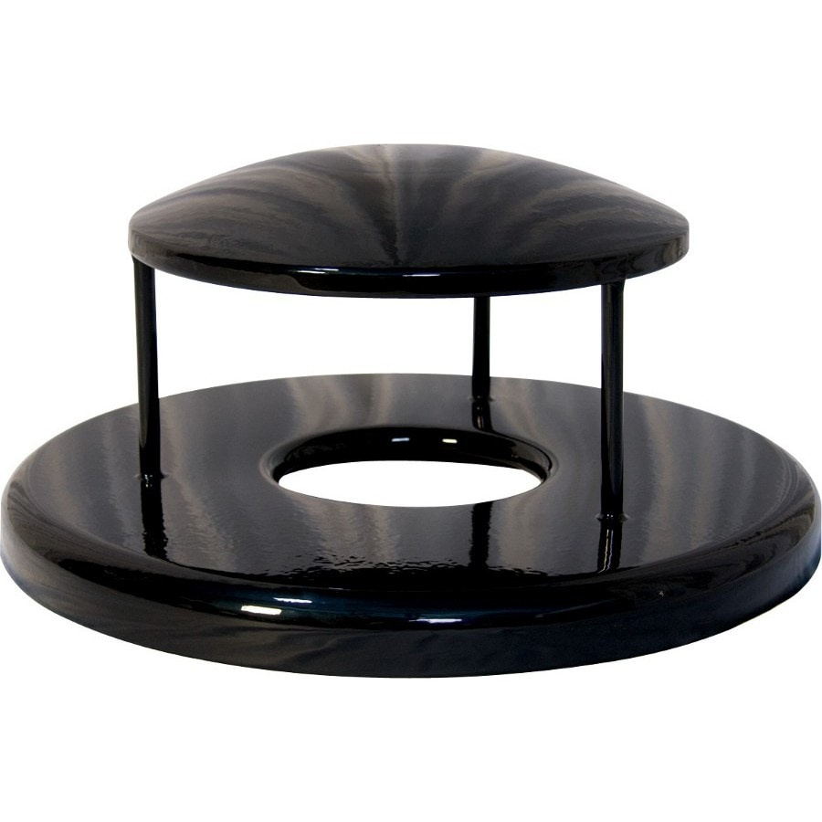 Ultra Play Black Metal Outdoor Trash Can Lid