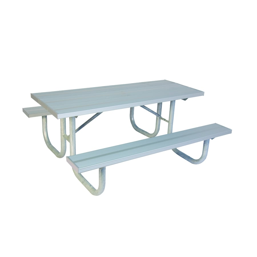 Shop Ultra Play In Silver Extruded Aluminum Rectangle Picnic - Picnic table parts