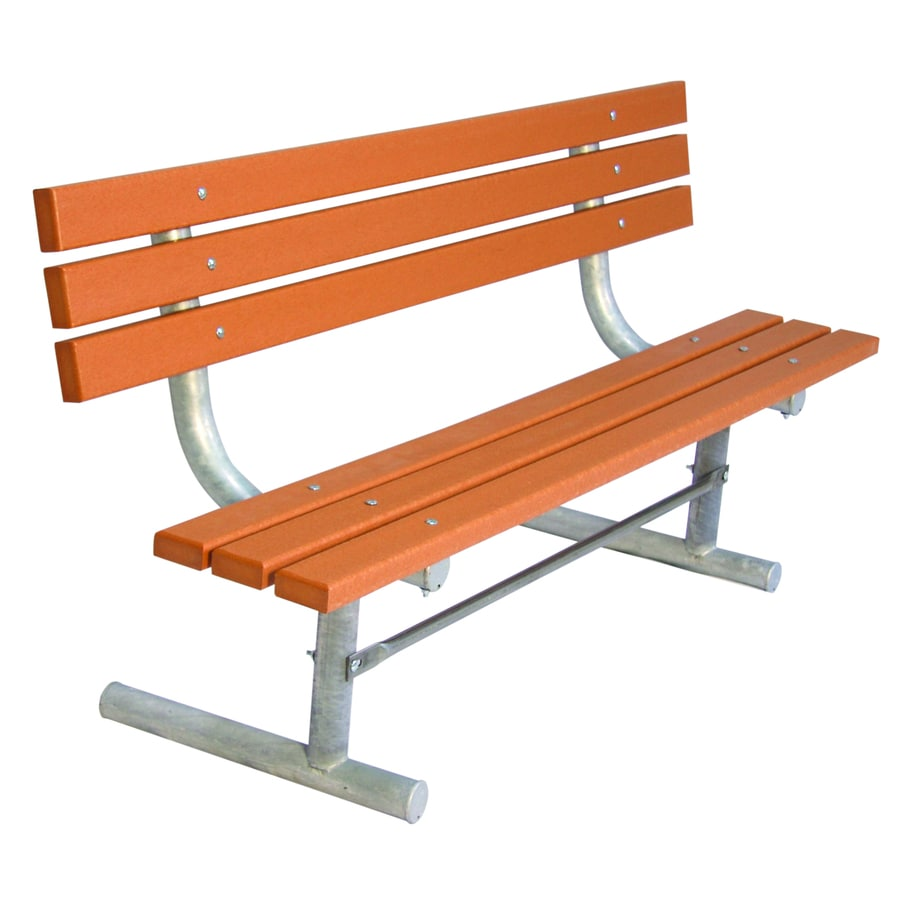 Shop ultra play 72 in l recycled plastic park bench at Lowes garden bench