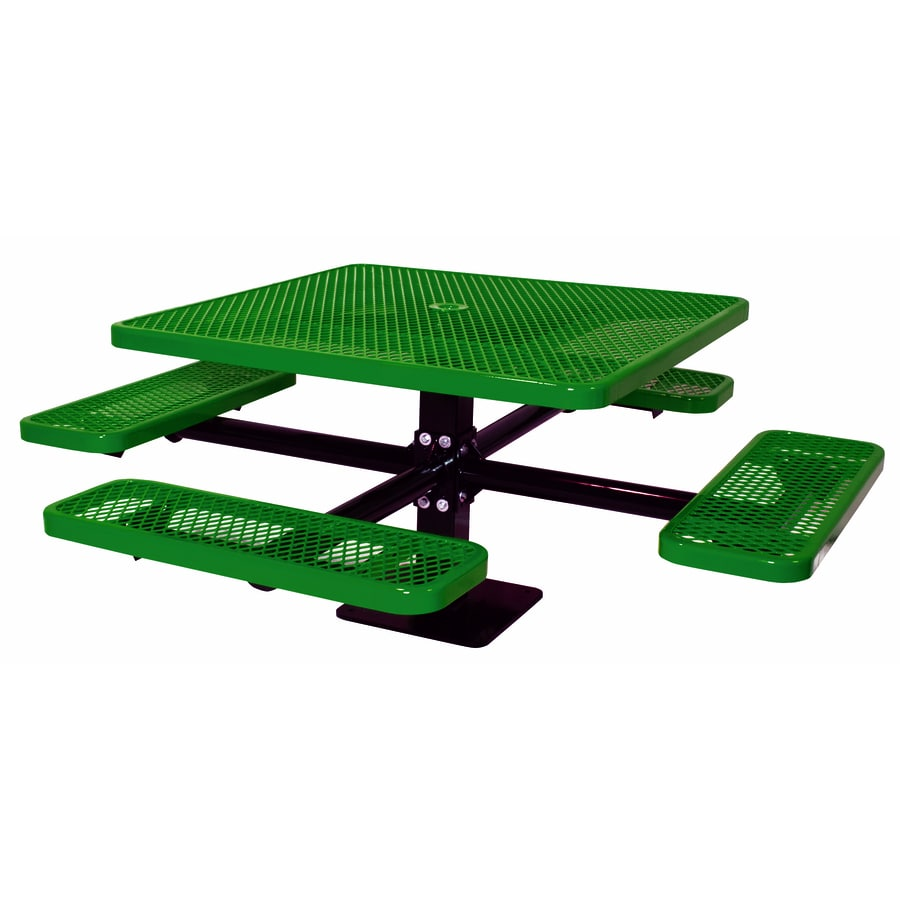 Ultra Play 46-in Green Steel Square Picnic Table