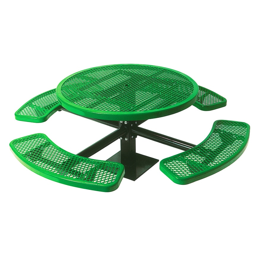 Ultra Play 46-in Green Steel Round Picnic Table