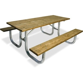 Ultra Play 72 In Brown Southern Yellow Pine Rectangle Picnic Table