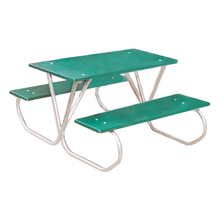 Ultra Play 3-ft Green Steel Rectangle Picnic Table