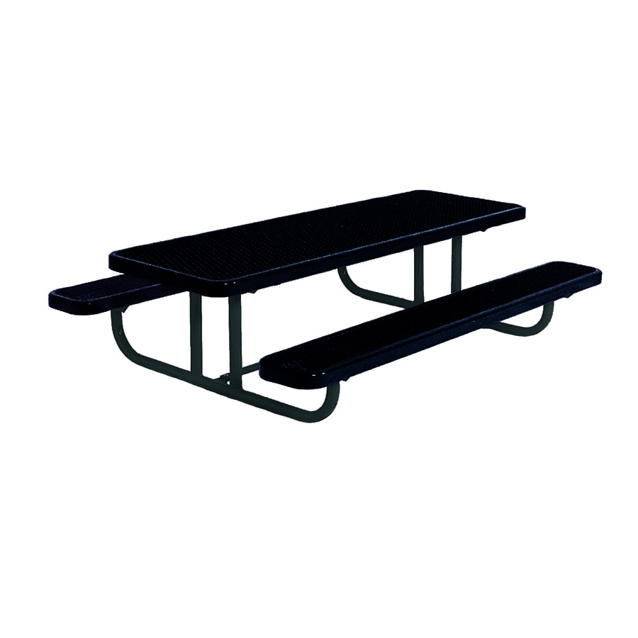 Shop Ultra Play In Black Steel Rectangle Picnic Table At Lowescom - 96 picnic table