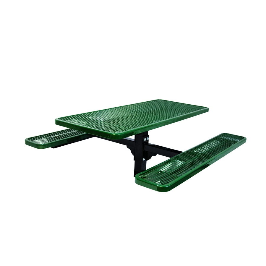Ultra Play 72-in Green Steel Rectangle Picnic Table