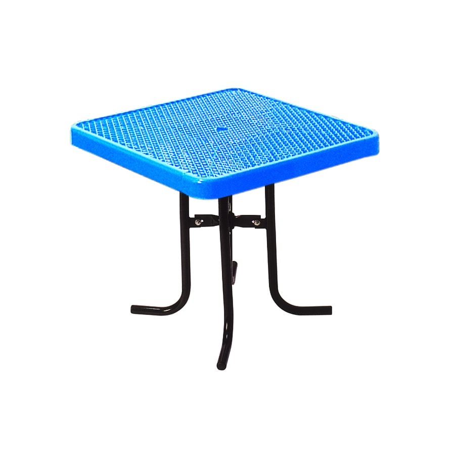 Ultra Play 36 In Blue Steel Square Picnic Table At Lowes Com