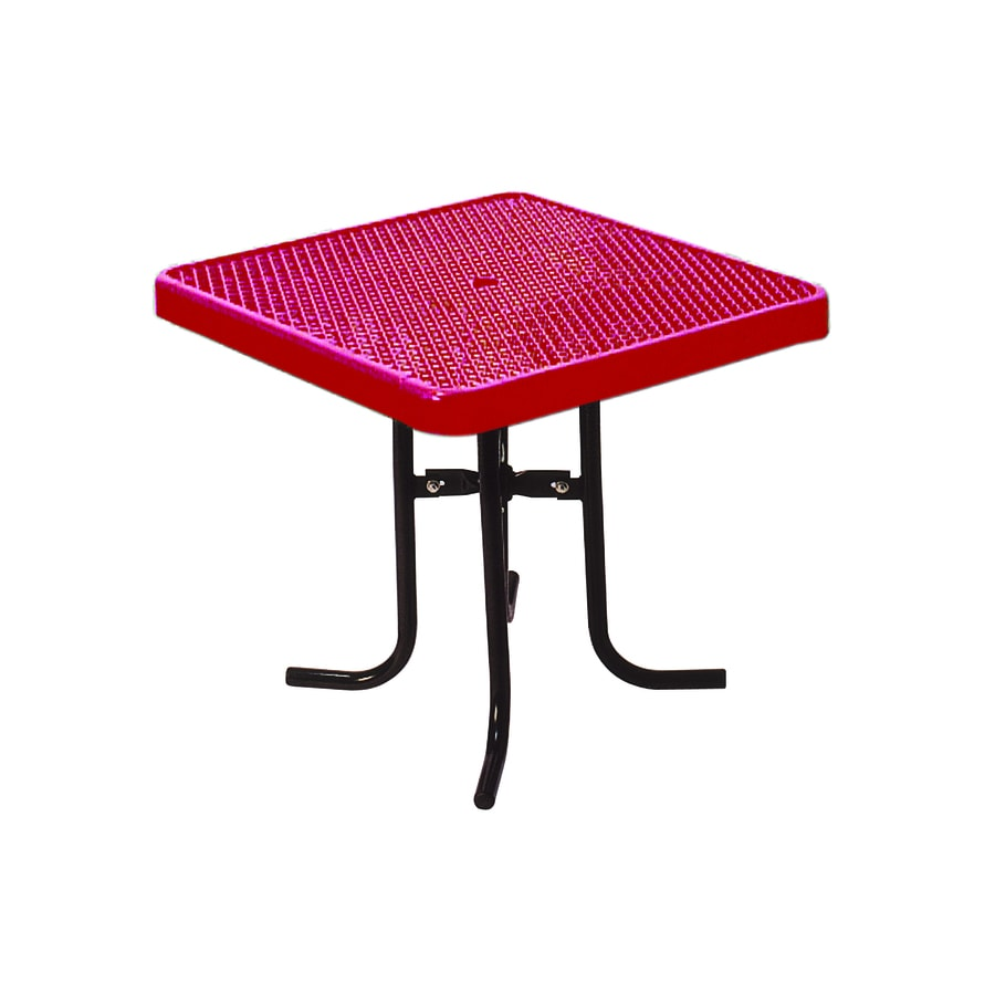 Ultra Play 36-in Red Steel Square Picnic Table