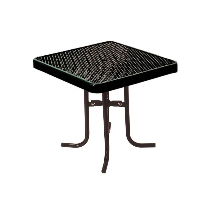 Ultra Play 3-ft Black Steel Square Picnic Table