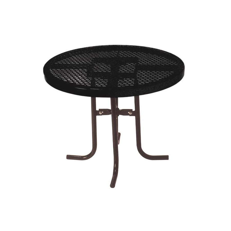Ultra Play 3-ft Black Steel Round Picnic Table