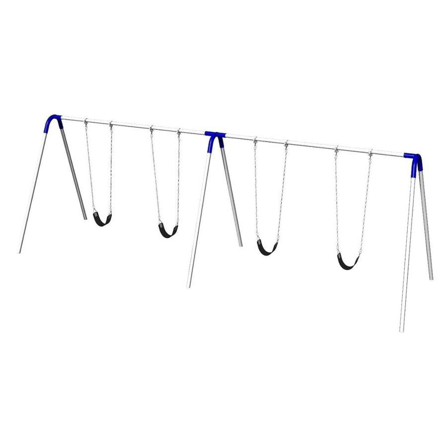 Ultra Play Blue/Galvanized Steel Freestanding Swings