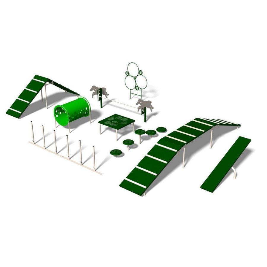Ultra Play 9-Activity Expert Dog Park Agility Course Kit