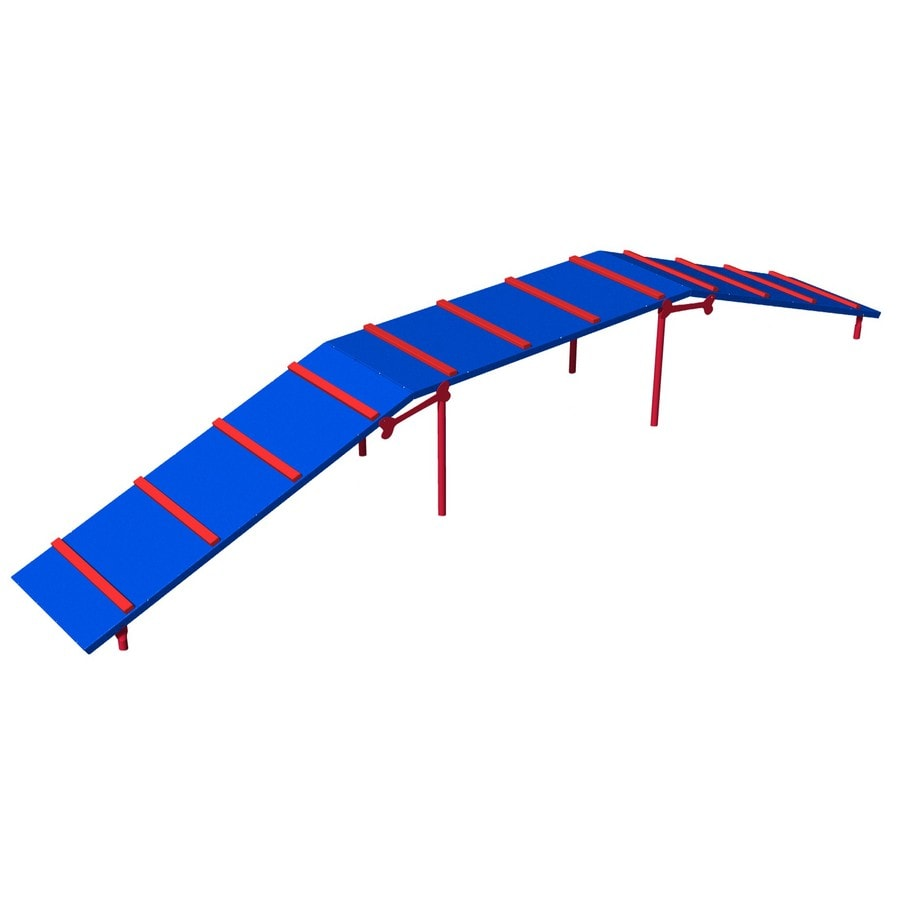 Ultra Play Blue and Red Dog Park Platformed Ramp