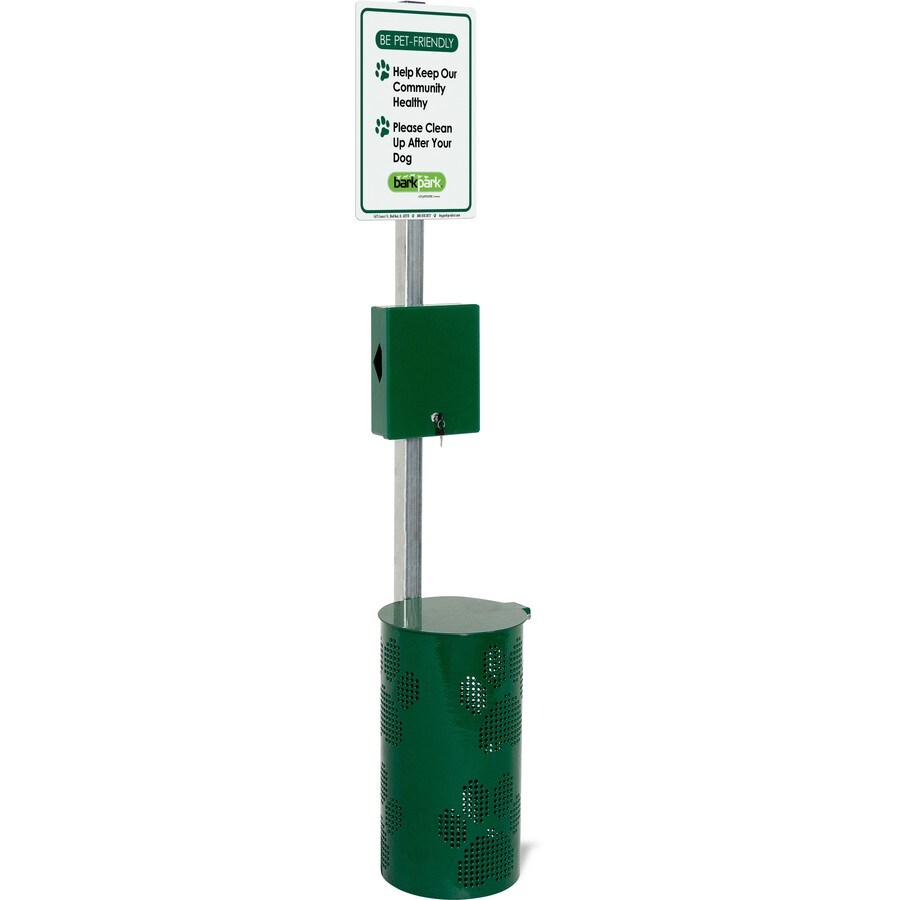 Ultra Play 15-Gallon Commercial Pet Waste Station with Bag Dispenser