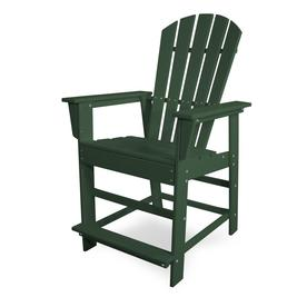 Polywood South Beach Hdpe Bar Stool Chair With Slat Seat