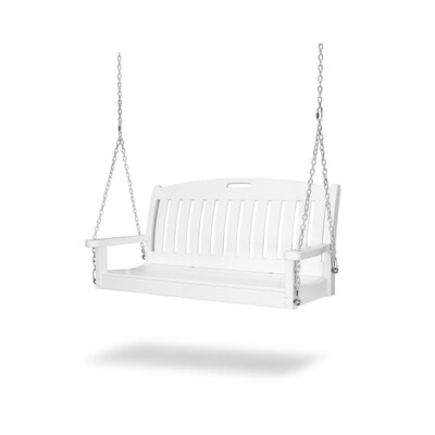 Polywood Nautical 2 Person White Recycled Plastic Outdoor