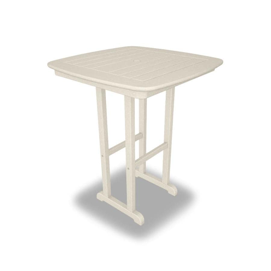 Polywood Nautical Square Bar Height Table 31 In W X 31 In