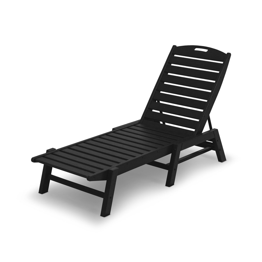 Polywood Nautical Stackable Plastic Stationary Chaise