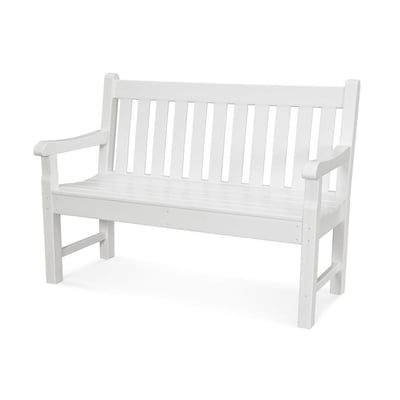 Excellent Polywood Rockford 24 In W X 48 In L White Plastic Patio Spiritservingveterans Wood Chair Design Ideas Spiritservingveteransorg