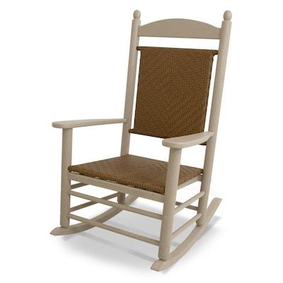 Swell Jefferson Wicker Plastic Rocking Chair S With Woven Seat Machost Co Dining Chair Design Ideas Machostcouk
