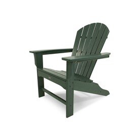 Trex Outdoor Furniture Cape Cod Plastic Adirondack Chair With Slat Seat