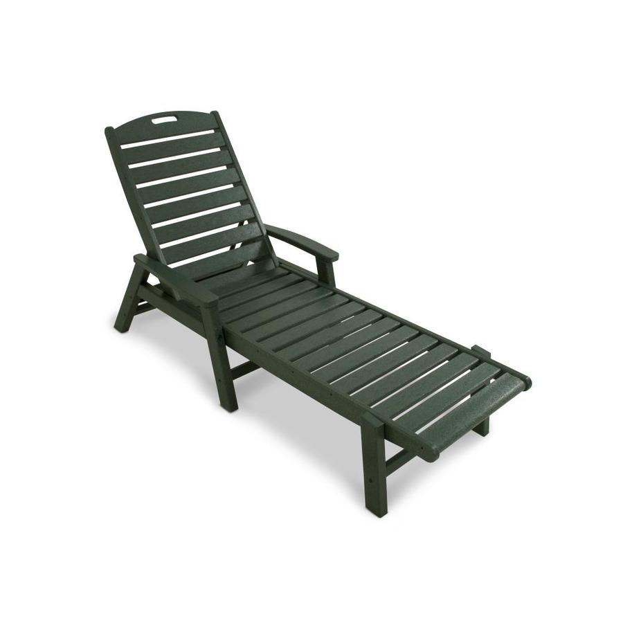 Shop trex outdoor furniture yacht club rainforest canopy plastic patio chaise lounge chair at Plastic outdoor furniture